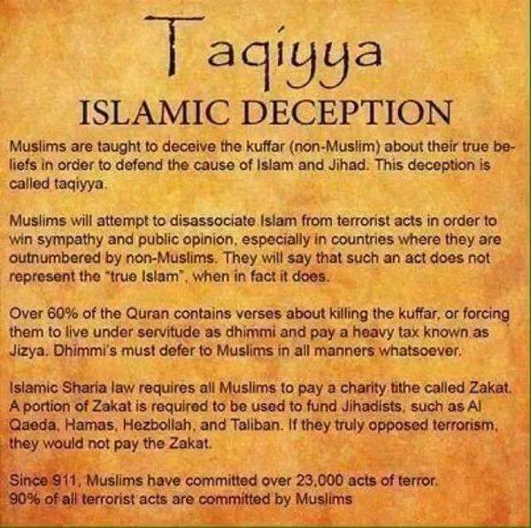 taqiyya Islam Deception